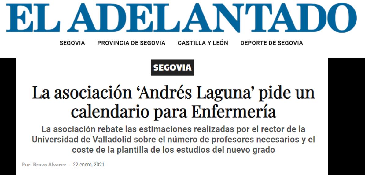 La asociación 'Andrés Laguna' pide un calendario para Enfermería
