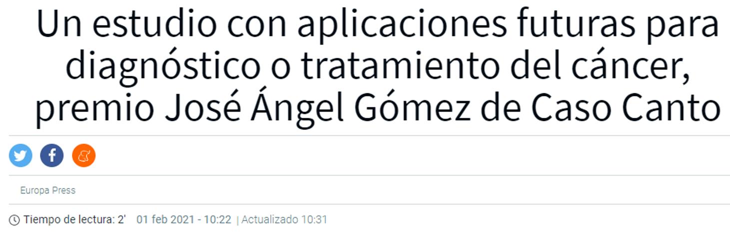 Fallo del Premio José Ángel Gómez de Caso Canto