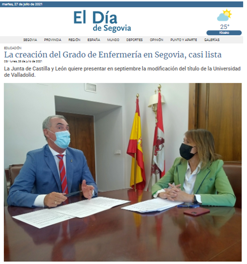 Grado de Enfermería en Segovia